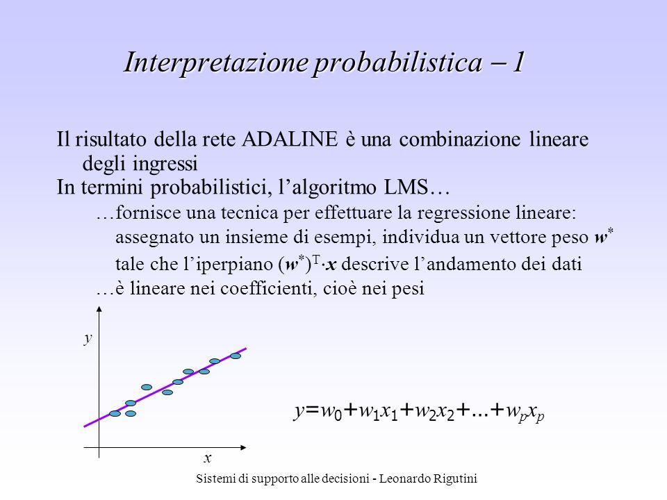 Interpretazione probabilistica  1