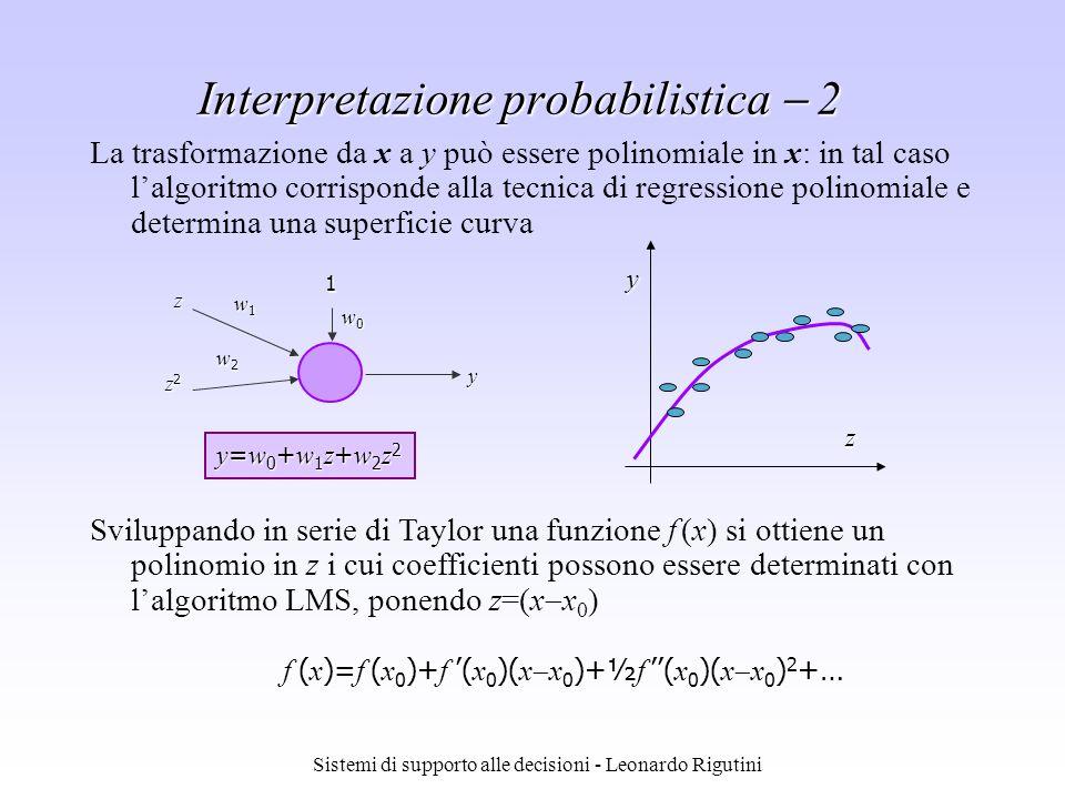 Interpretazione probabilistica  2