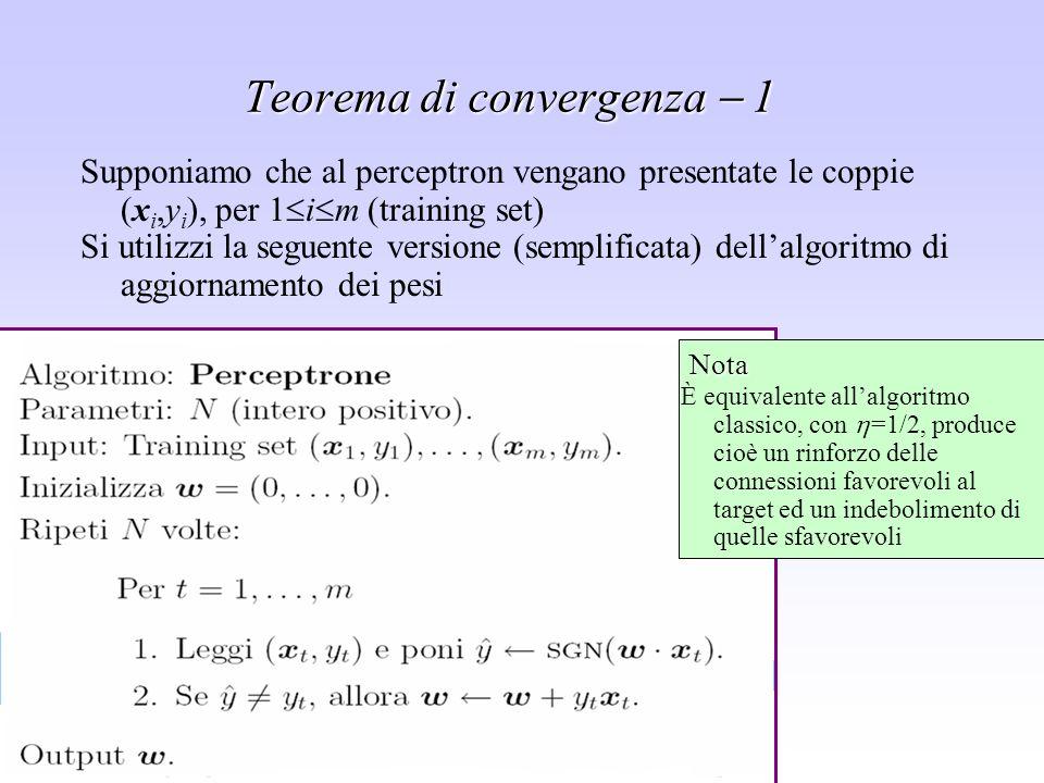 Teorema di convergenza  1