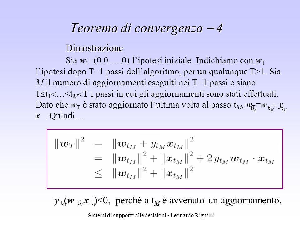Teorema di convergenza  4