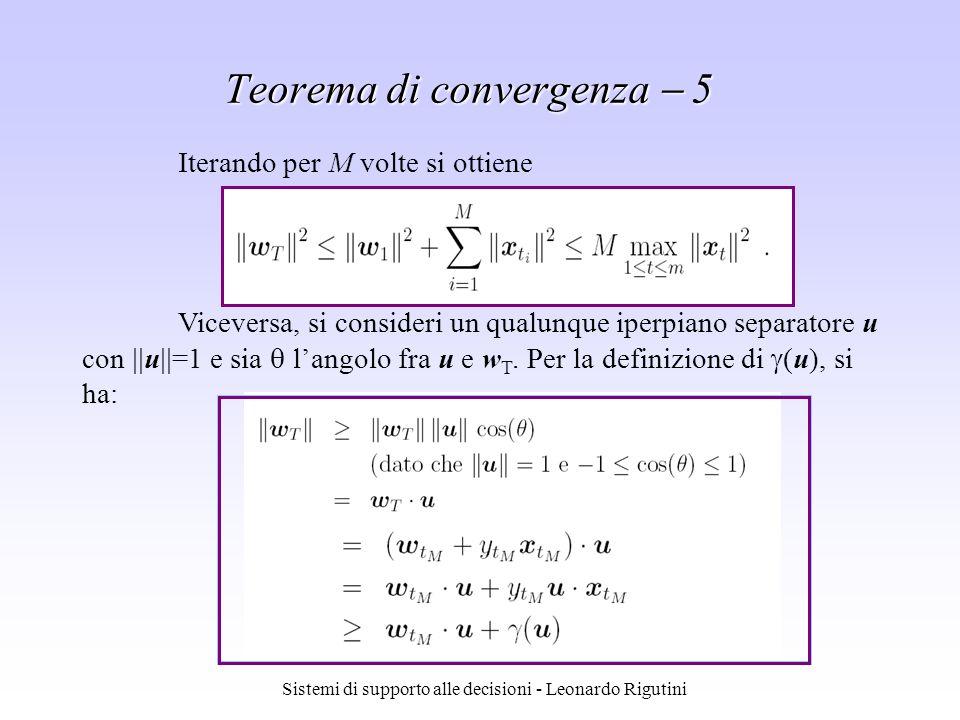 Teorema di convergenza  5