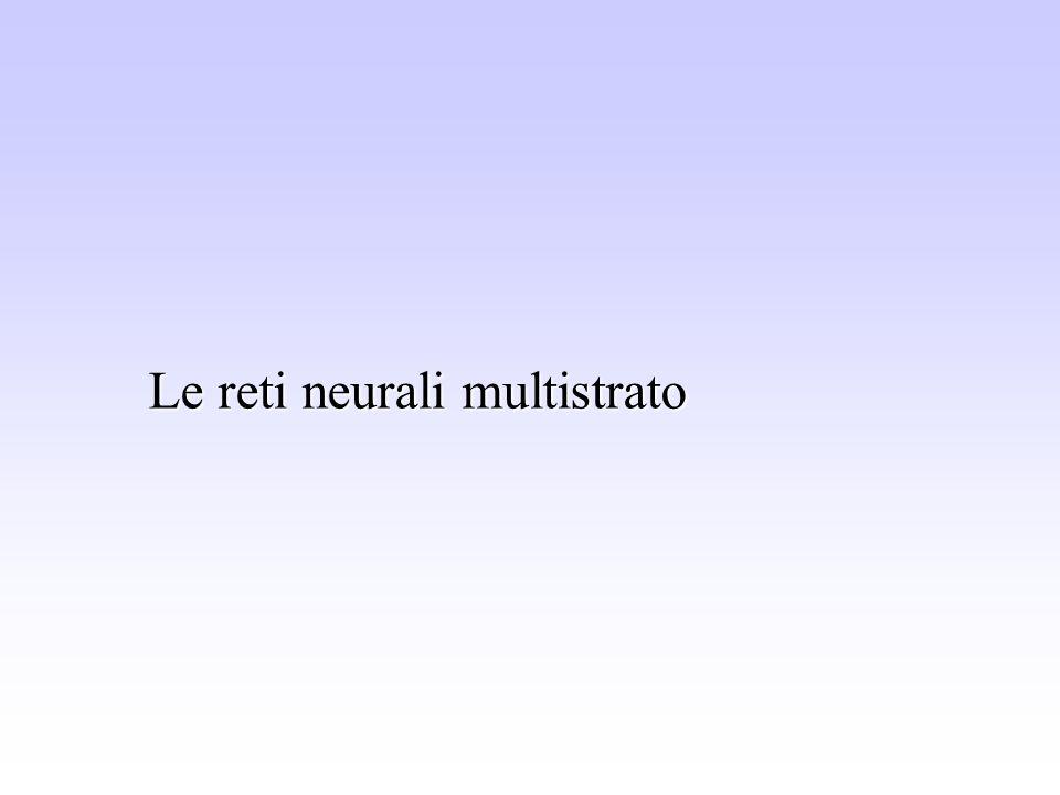 Le reti neurali multistrato