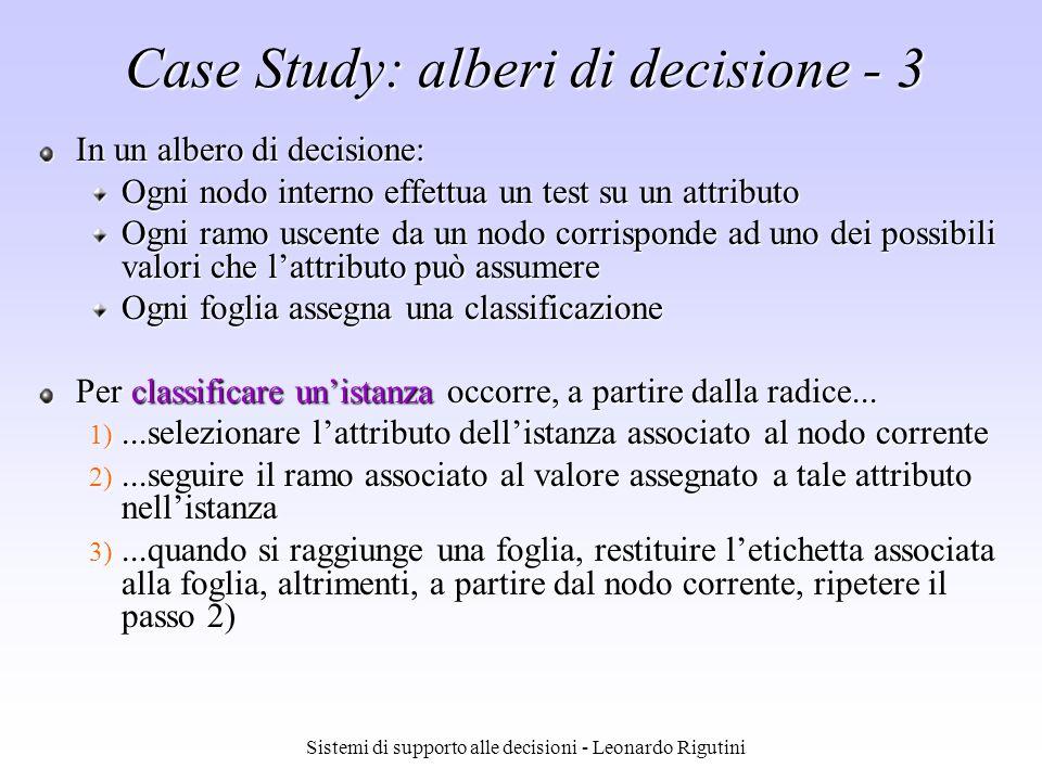 Case Study: alberi di decisione - 3