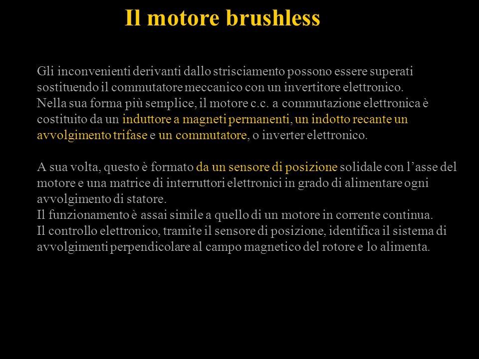 Il motore brushless