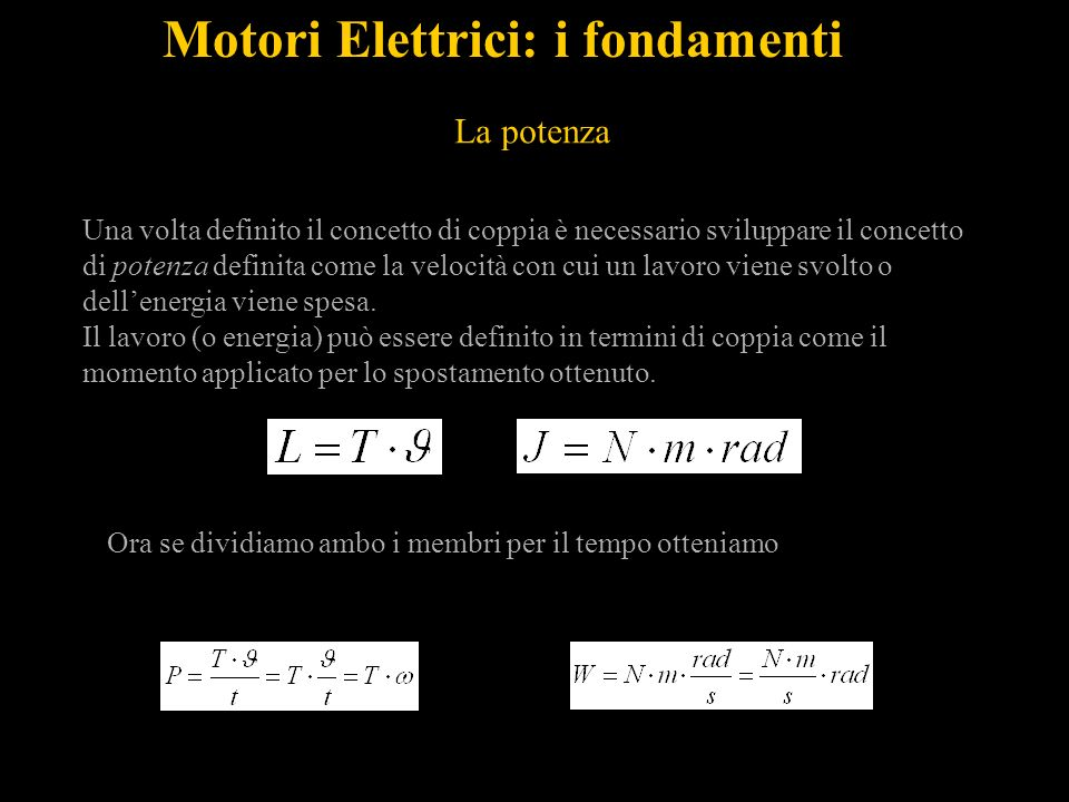 Motori Elettrici: i fondamenti