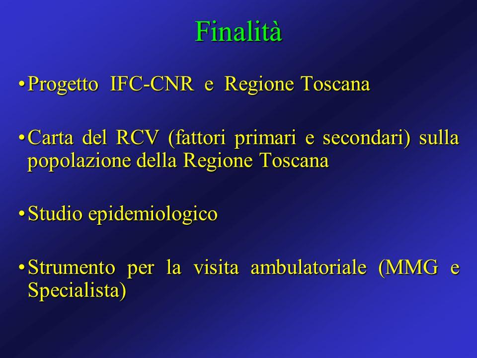Finalità Progetto IFC-CNR e Regione Toscana