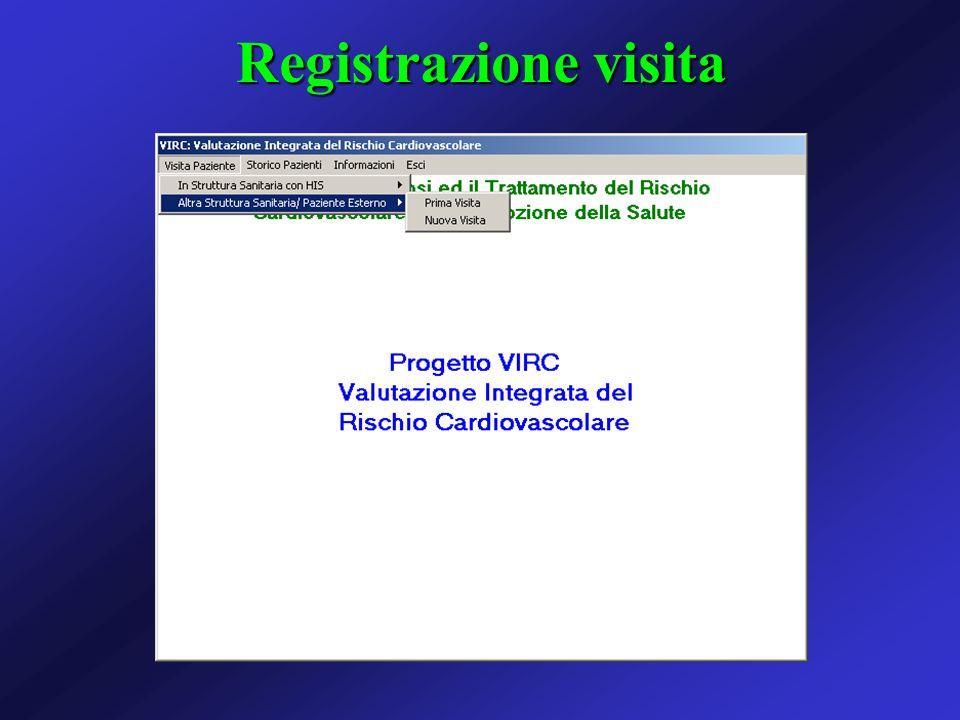 Registrazione visita
