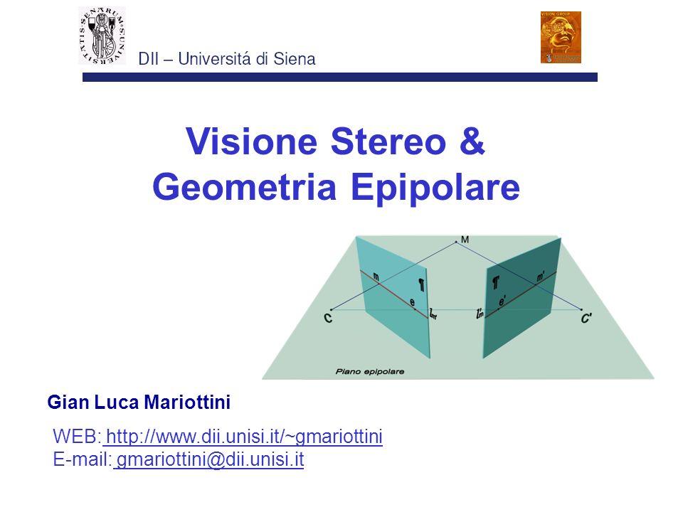 Visione Stereo & Geometria Epipolare