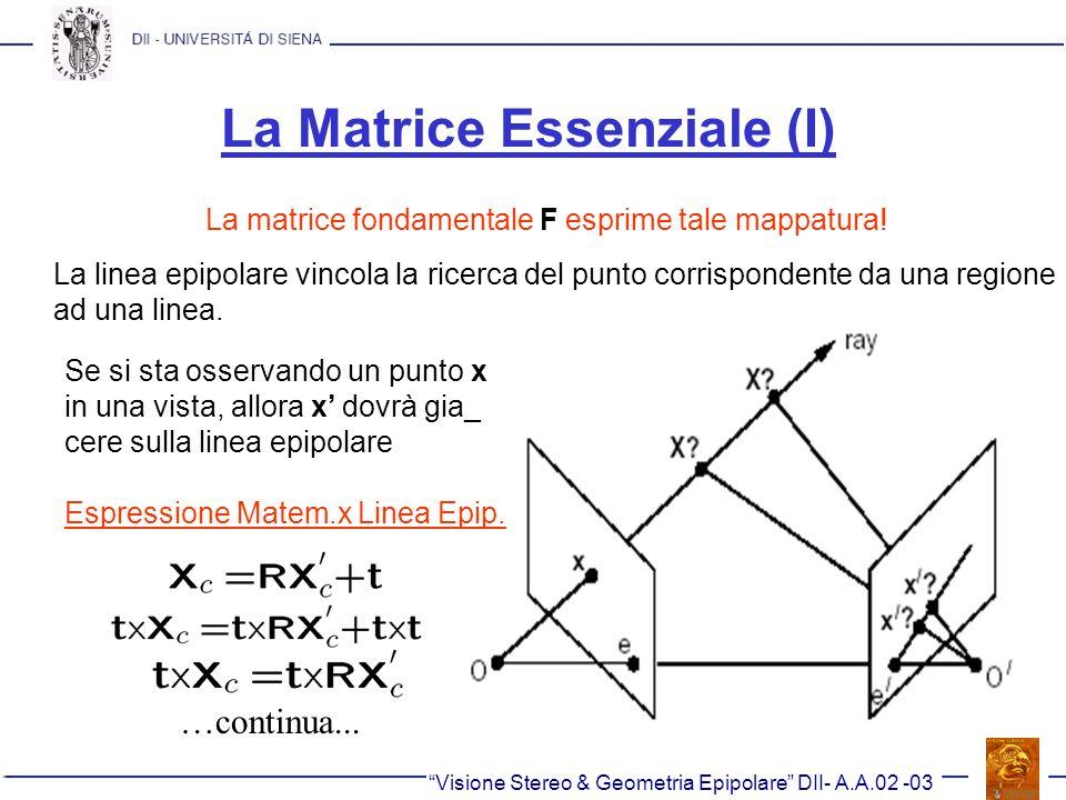 La Matrice Essenziale (I)