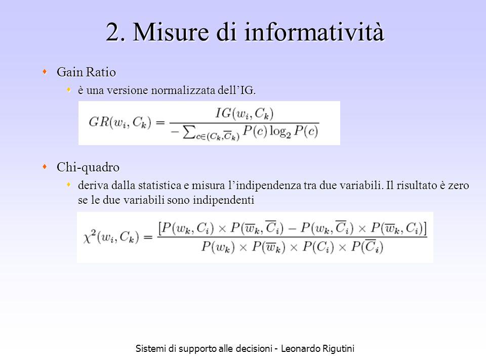 2. Misure di informatività
