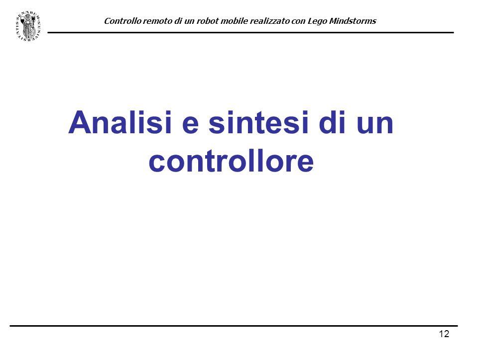 Analisi e sintesi di un controllore