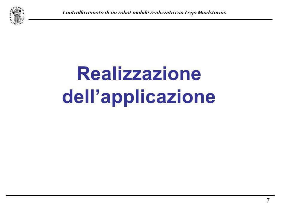 Realizzazione dell'applicazione