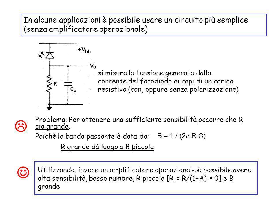 In alcune applicazioni è possibile usare un circuito più semplice (senza amplificatore operazionale)