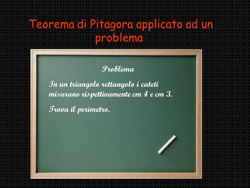 Teorema di Pitagora applicato ad un problema