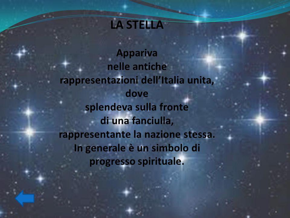 LA STELLA Appariva nelle antiche rappresentazioni dell'Italia unita,