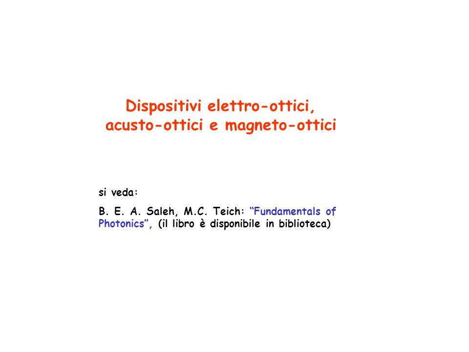 Dispositivi elettro-ottici, acusto-ottici e magneto-ottici