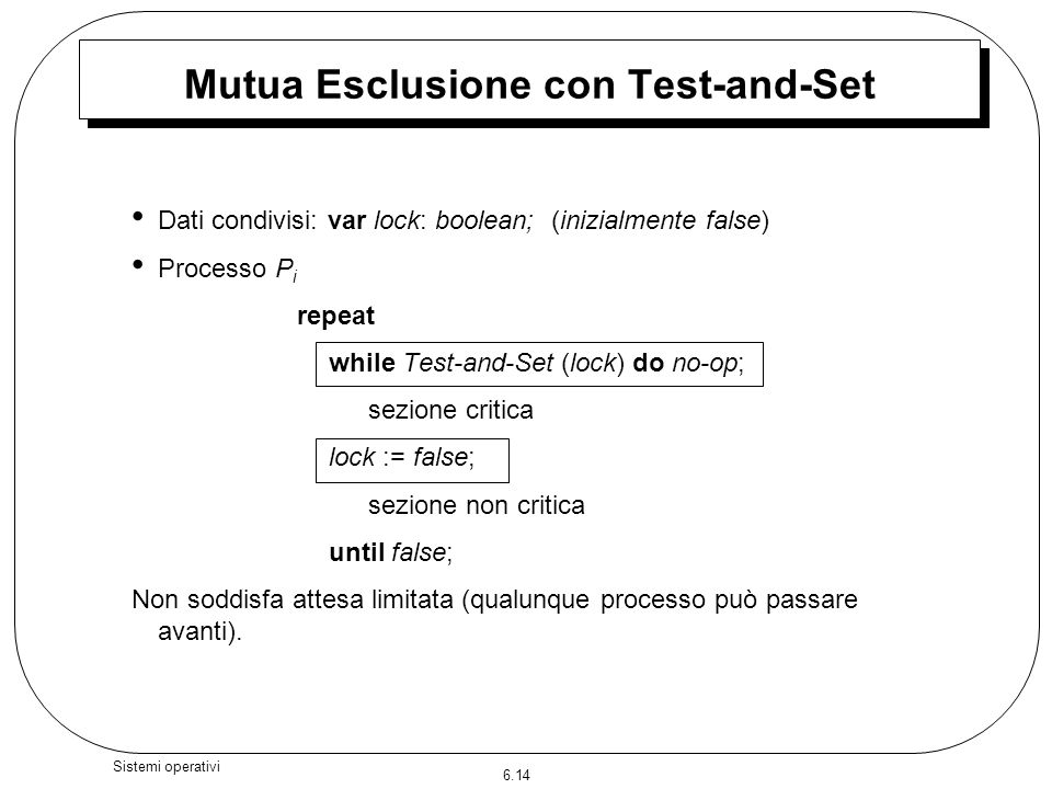 Mutua Esclusione con Test-and-Set