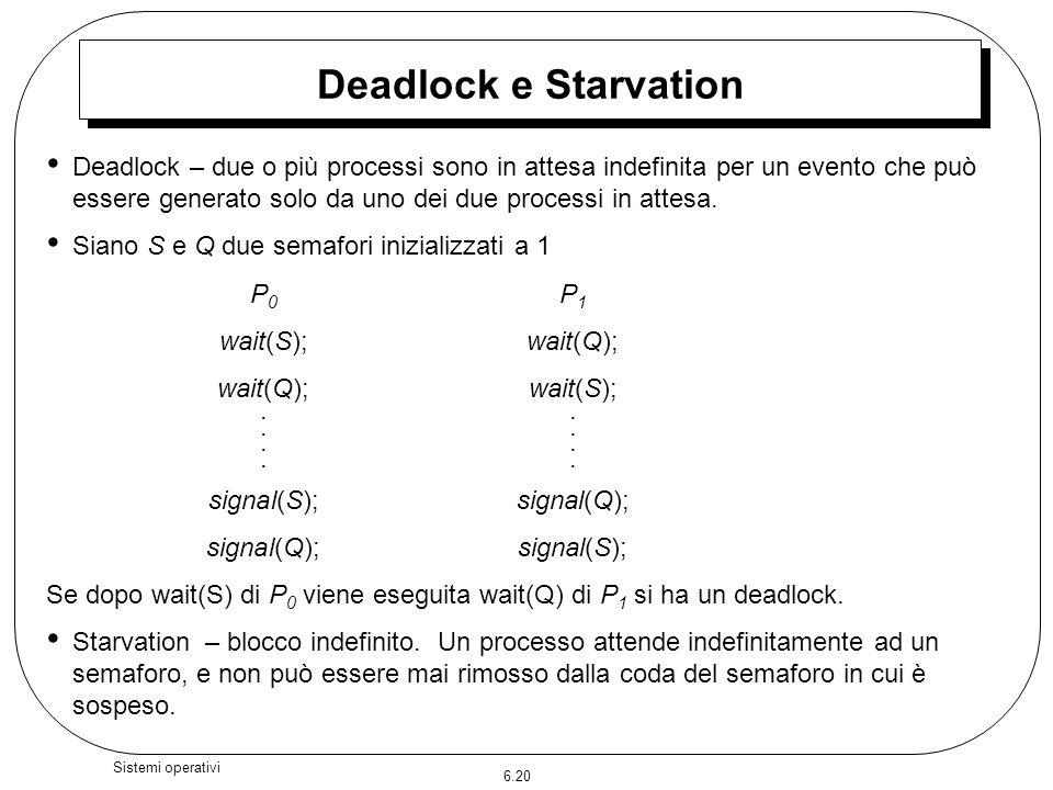 Deadlock e Starvation