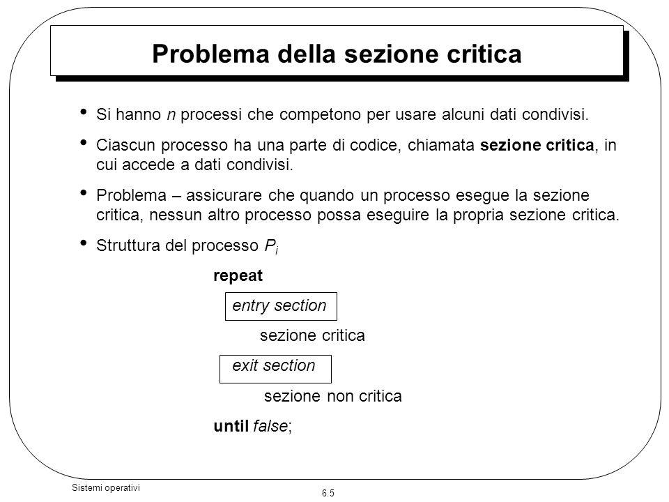 Problema della sezione critica