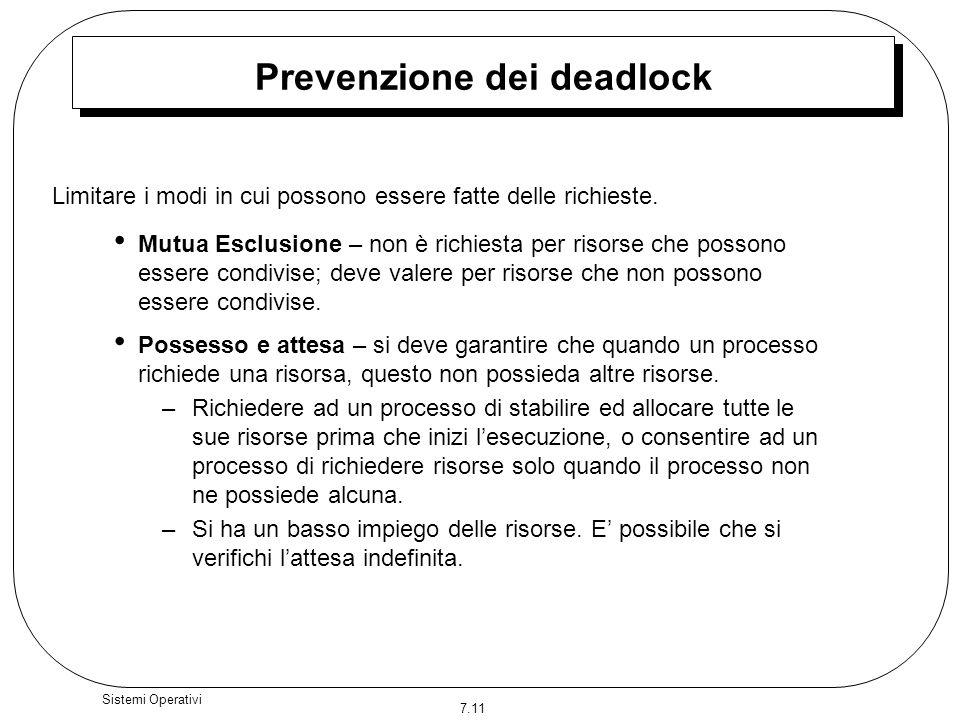 Prevenzione dei deadlock