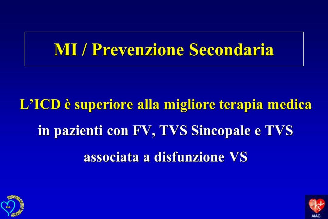 MI / Prevenzione Secondaria