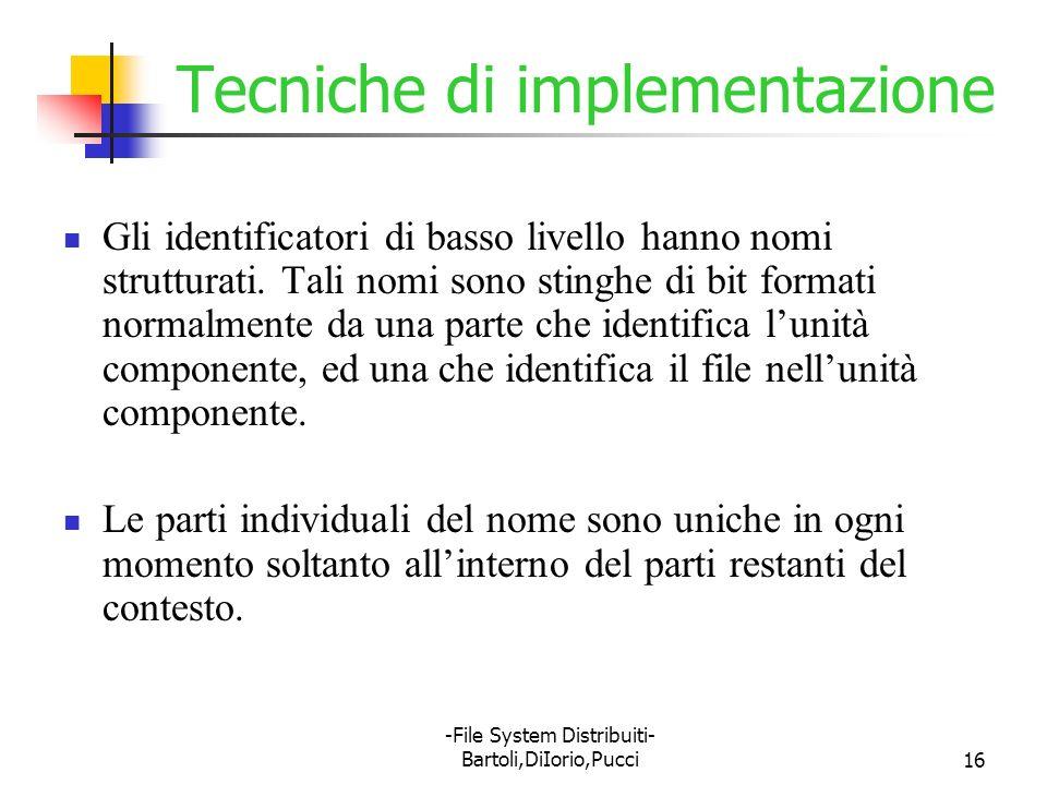 Tecniche di implementazione