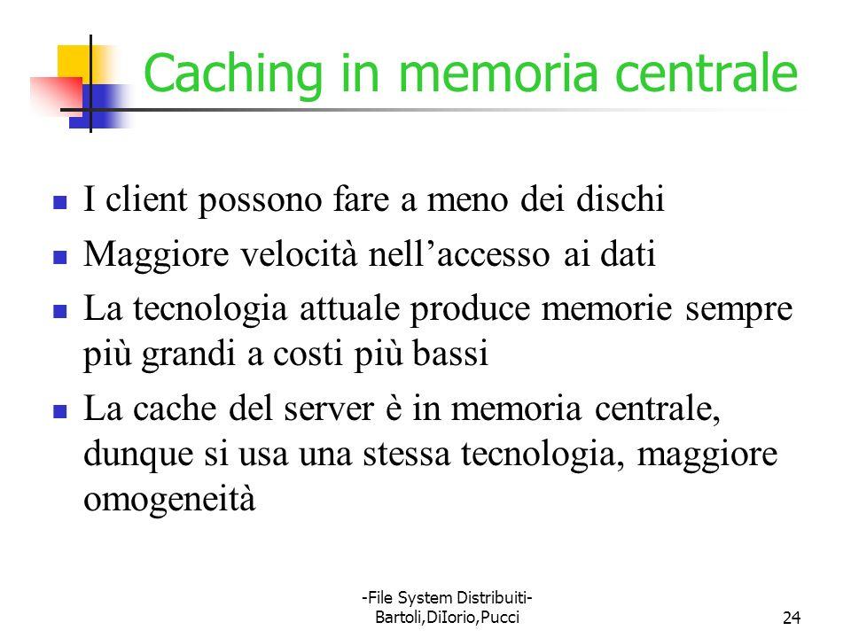 Caching in memoria centrale