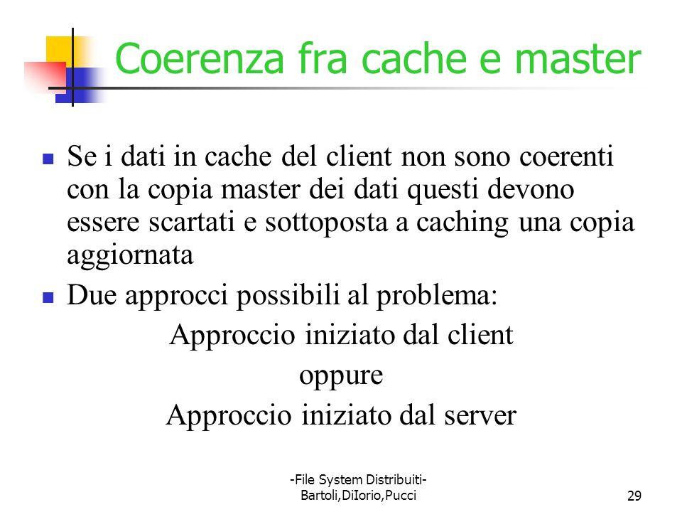 Coerenza fra cache e master