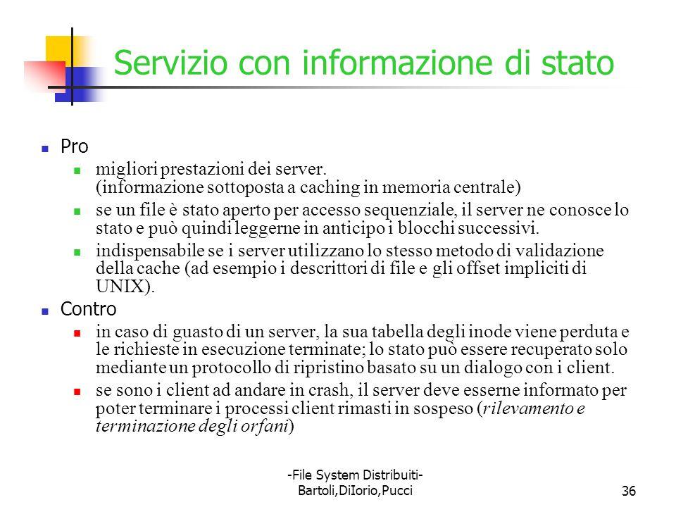 Servizio con informazione di stato