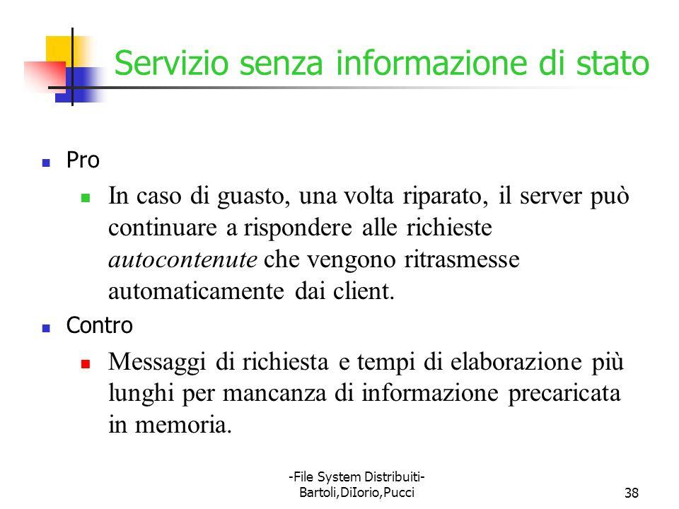 Servizio senza informazione di stato