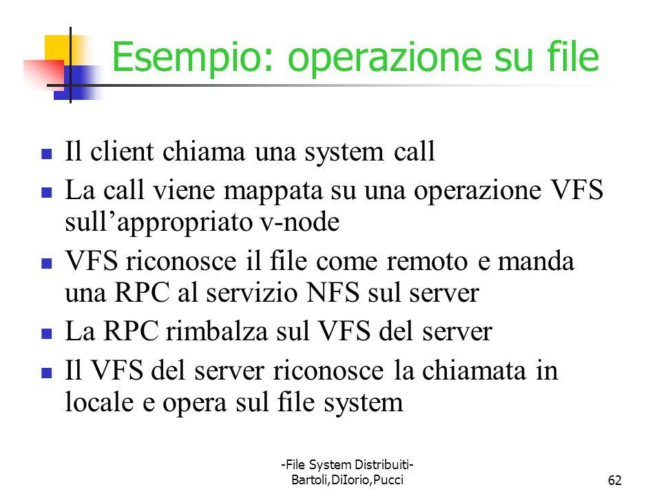 Esempio: operazione su file