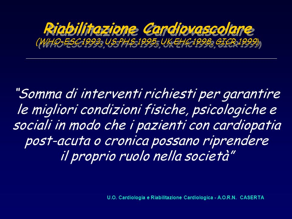 U.O. Cardiologia e Riabilitazione Cardiologica - A.O.R.N. CASERTA