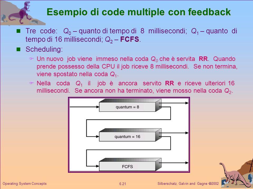 Esempio di code multiple con feedback