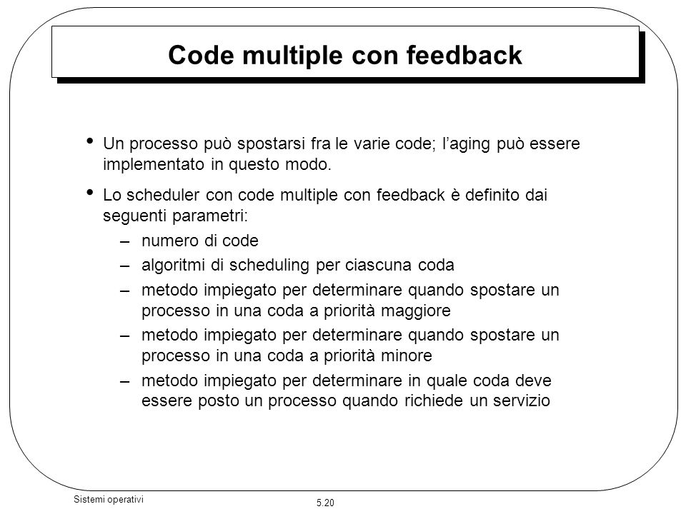 Code multiple con feedback