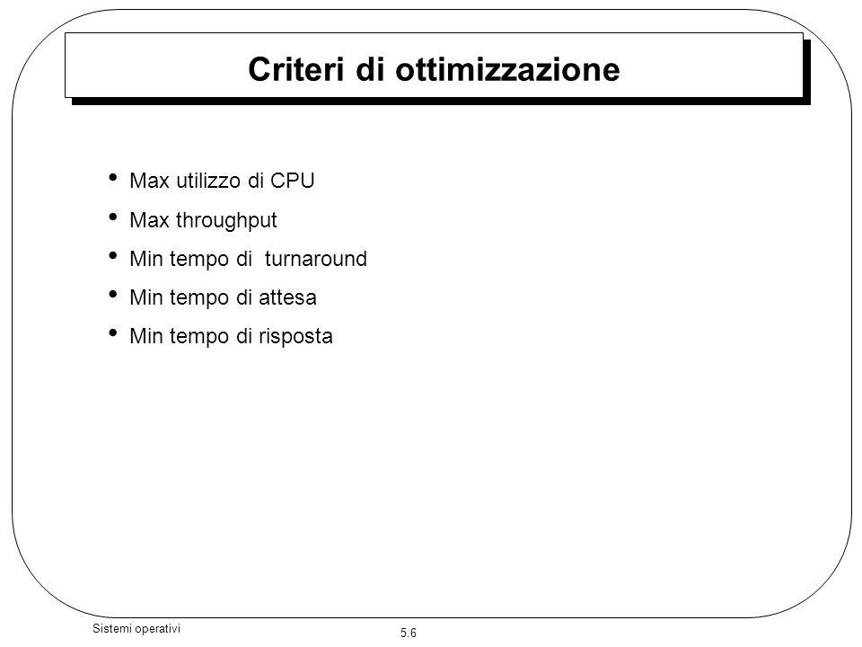 Criteri di ottimizzazione