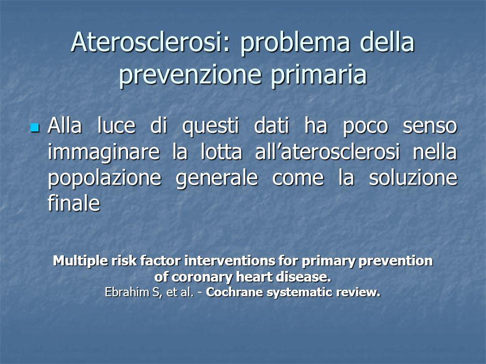 Aterosclerosi: problema della prevenzione primaria