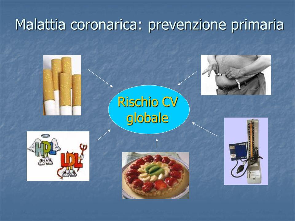 Malattia coronarica: prevenzione primaria