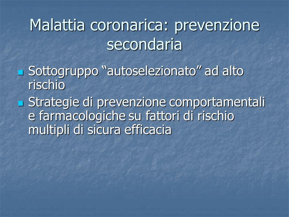 Malattia coronarica: prevenzione secondaria