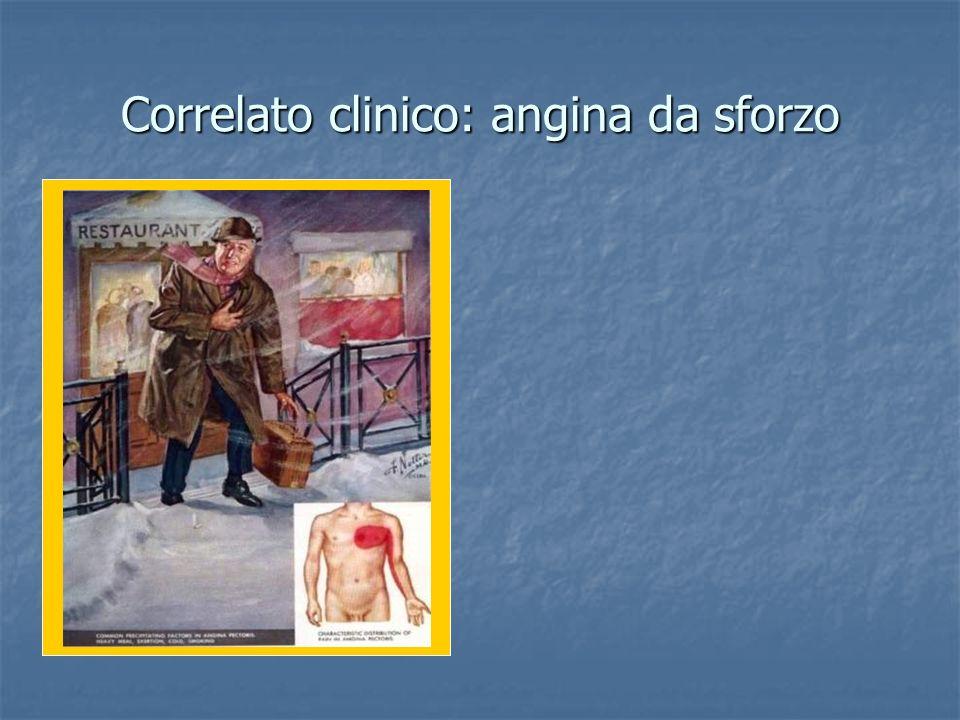 Correlato clinico: angina da sforzo