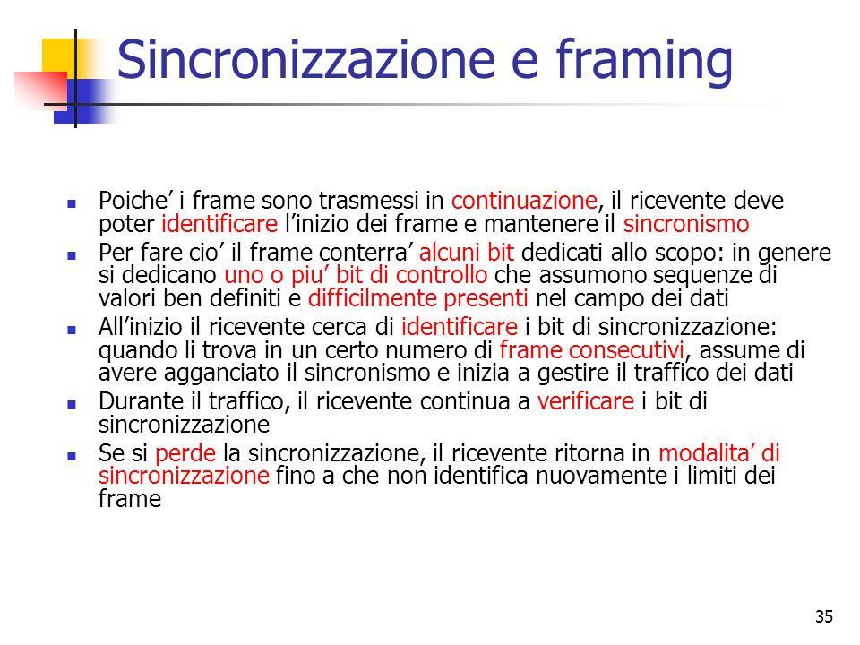 Sincronizzazione e framing