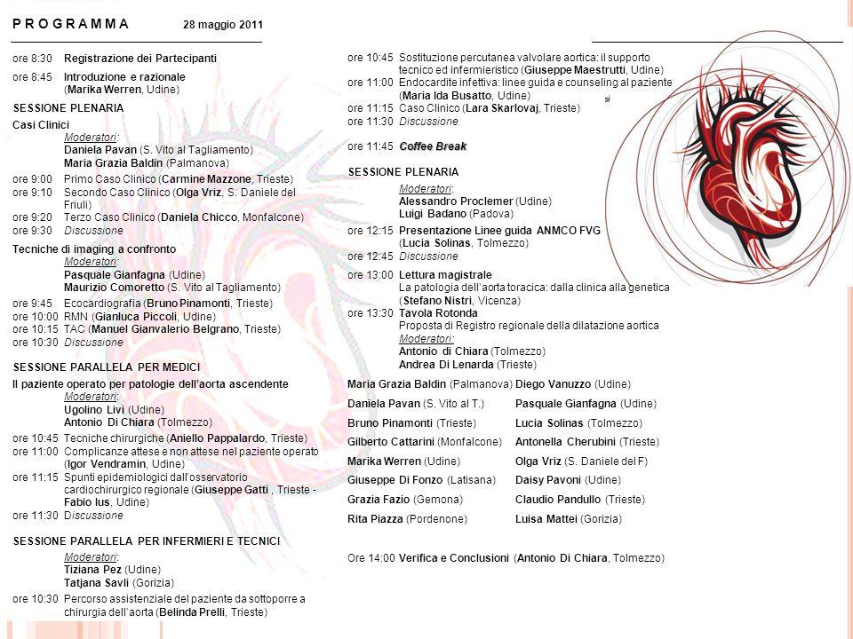 PROGRAMMA 28 maggio 2011 ore 8:30 Registrazione dei Partecipanti