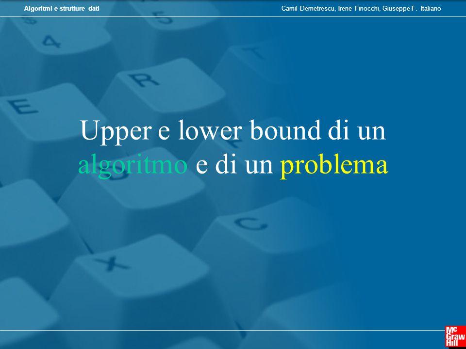 Upper e lower bound di un algoritmo e di un problema