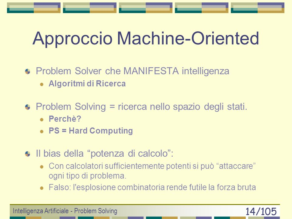 Approccio Machine-Oriented