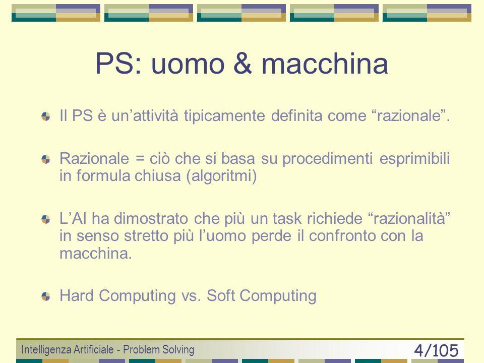 PS: uomo & macchinaIl PS è un'attività tipicamente definita come razionale .