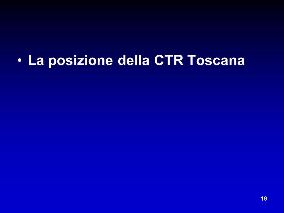 La posizione della CTR Toscana