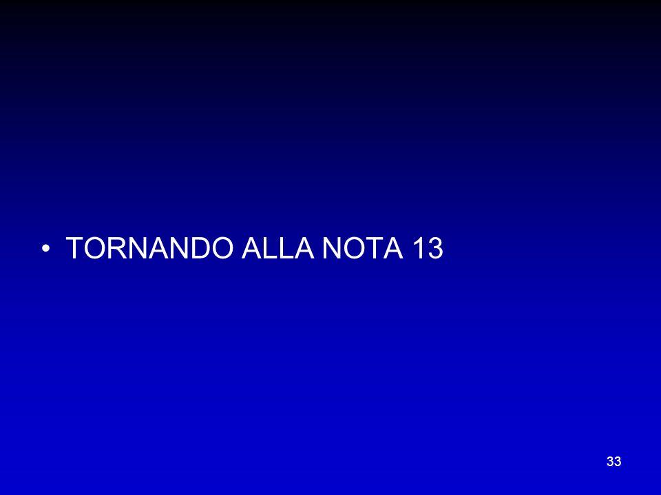 TORNANDO ALLA NOTA 13
