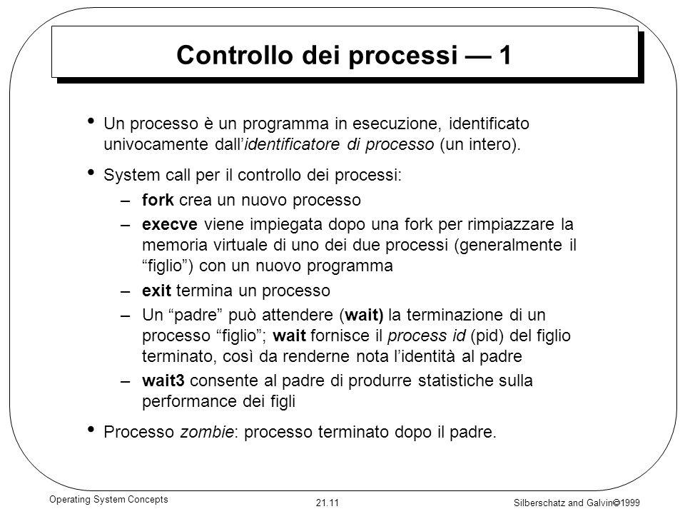 Controllo dei processi — 1