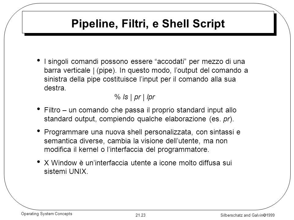 Pipeline, Filtri, e Shell Script