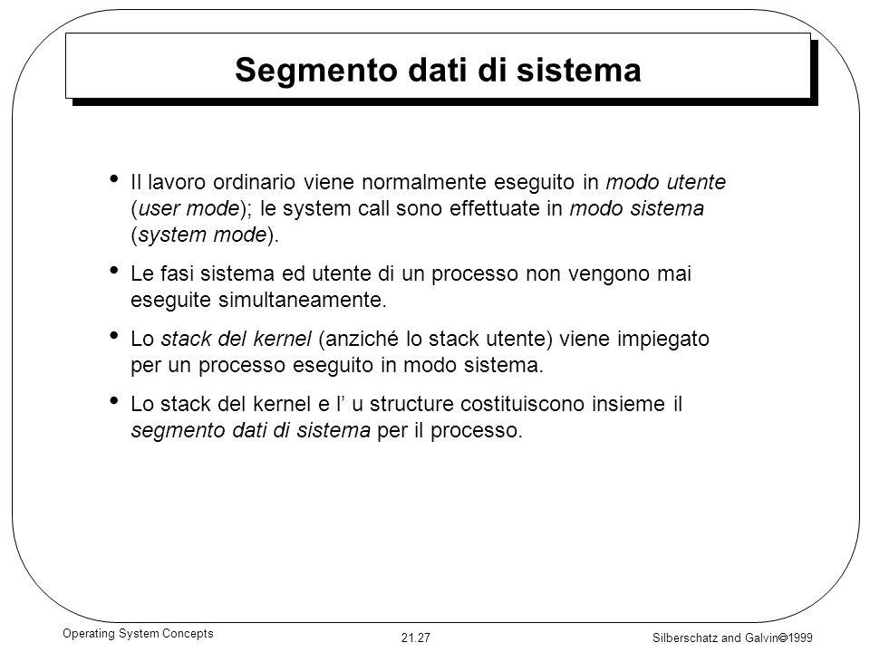 Segmento dati di sistema