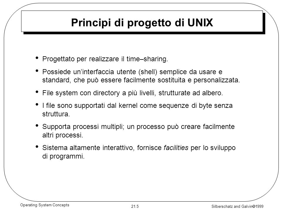 Principi di progetto di UNIX
